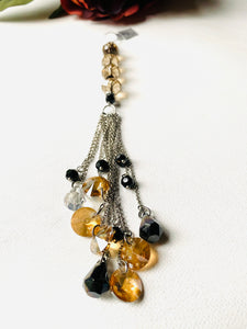 Holiday Ornament - Champagne and Black Crystal Ornament