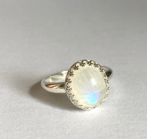 Moonstone Ring, Size 7 Ring, June Birthstone