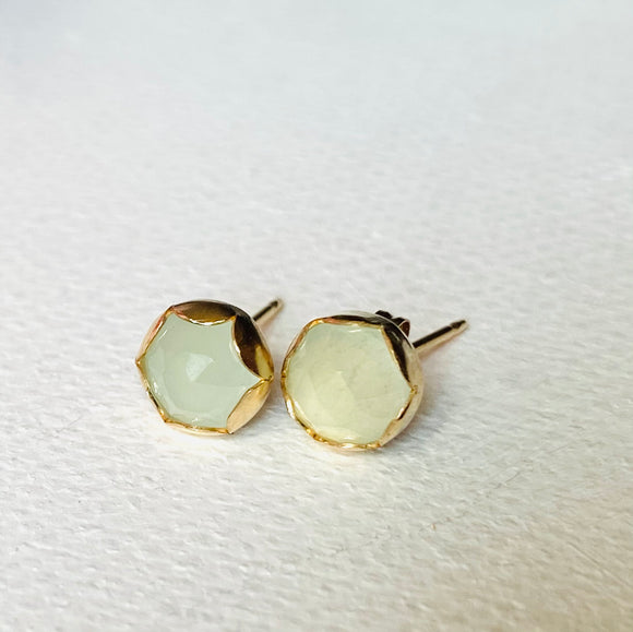 High End Aquamarine Stud, Gold and Aquamarine Stud Earrings, Aquamarine Gold Stud Earrings