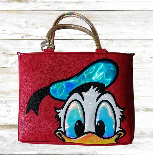 DONALD DUCK RED HANDBAG