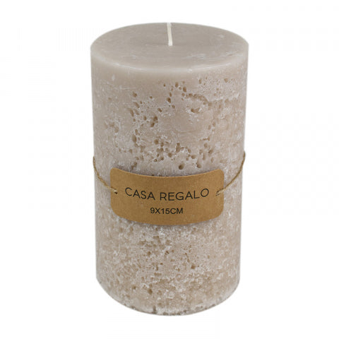Single Wick Earth Pillar Candle