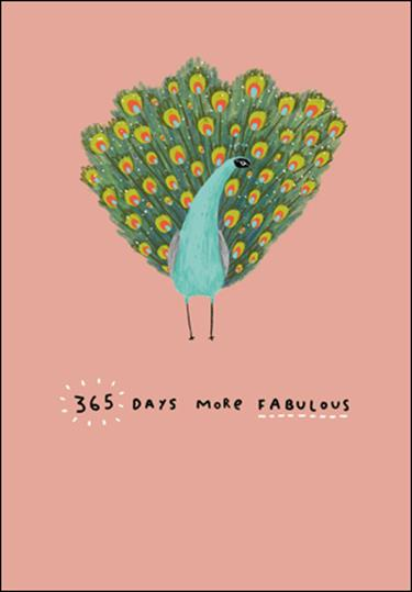 365 Days More Fabulous Card