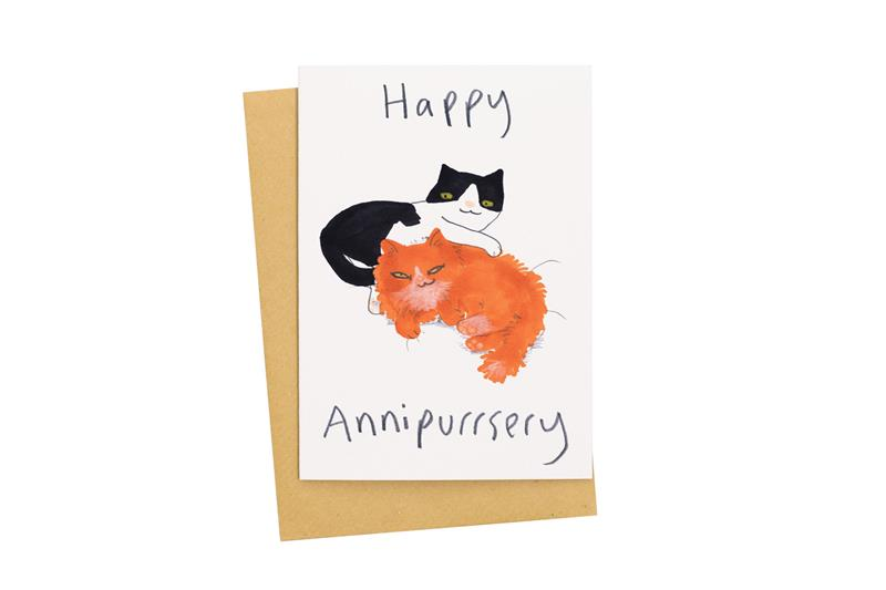 Happy Annipurrsery Card