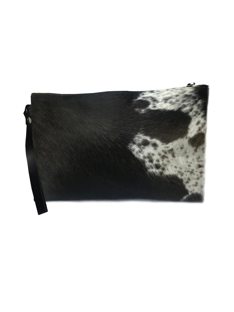 Cow Hide Clutch Brown