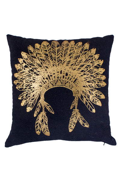 Gold Headpiece Printed Cushion
