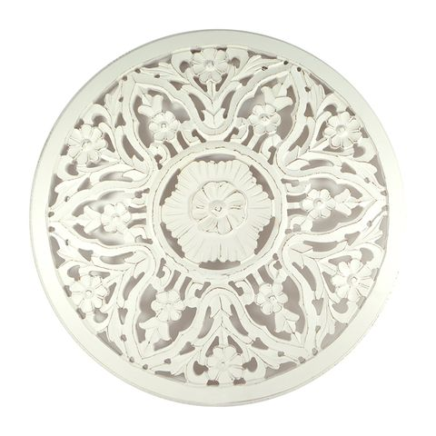 Carved Mandala Wall Panel