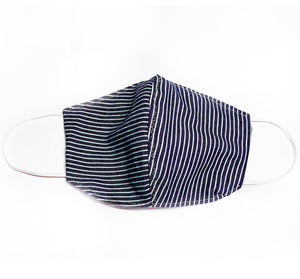 Dark Denim Stripe Face Mask