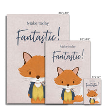 Load image into Gallery viewer, Mr Fox - Make Today Fantastic  Canvas