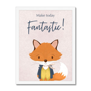 Mr Fox - Make Today Fantastic  Framed Print
