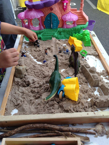 Kinetic Sand Play Experience run by Flying Fox Studios at the Billycart Markets 2014