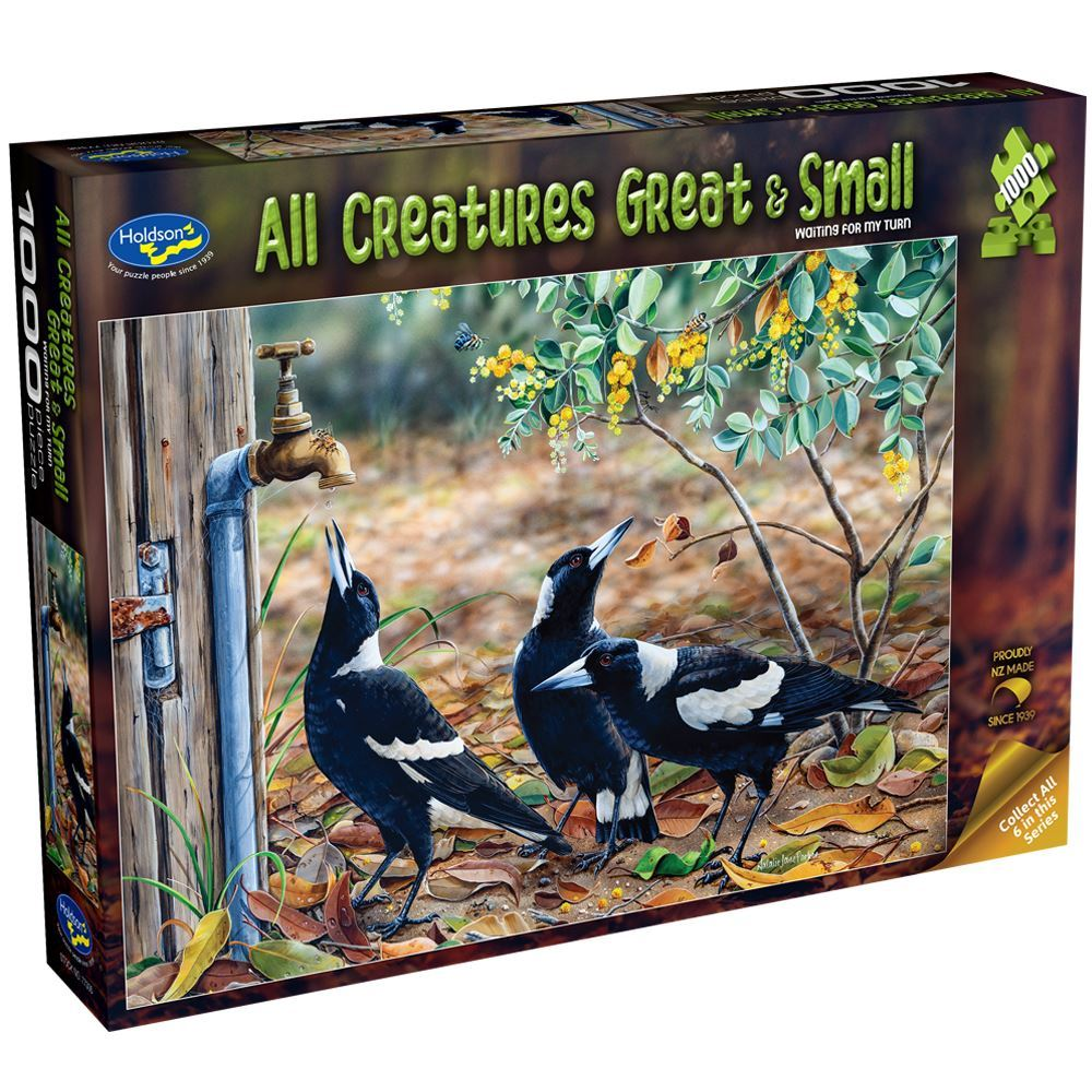All Creatures Great and Small: Magpie 1000 Piece Puzzle | Holdson New Zealand - STEAM Kids Brisbane