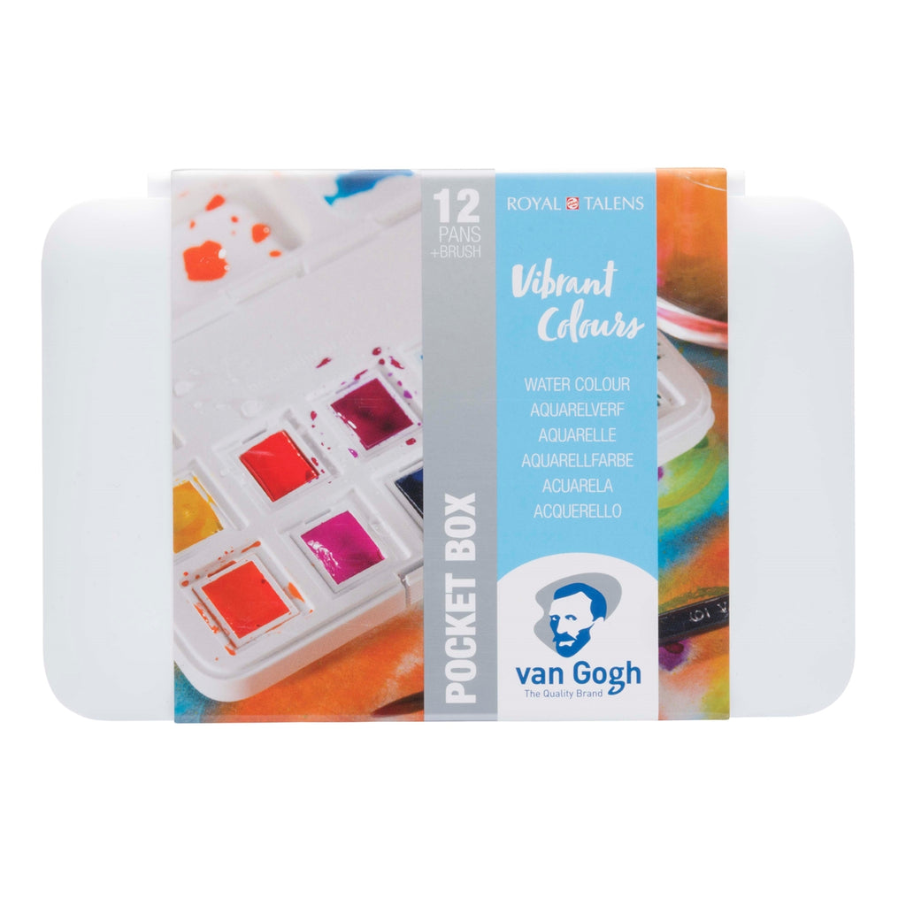 Royal Talens Van Gogh Watercolour Pocket Box Vibrant Colours - STEAM Kids Brisbane