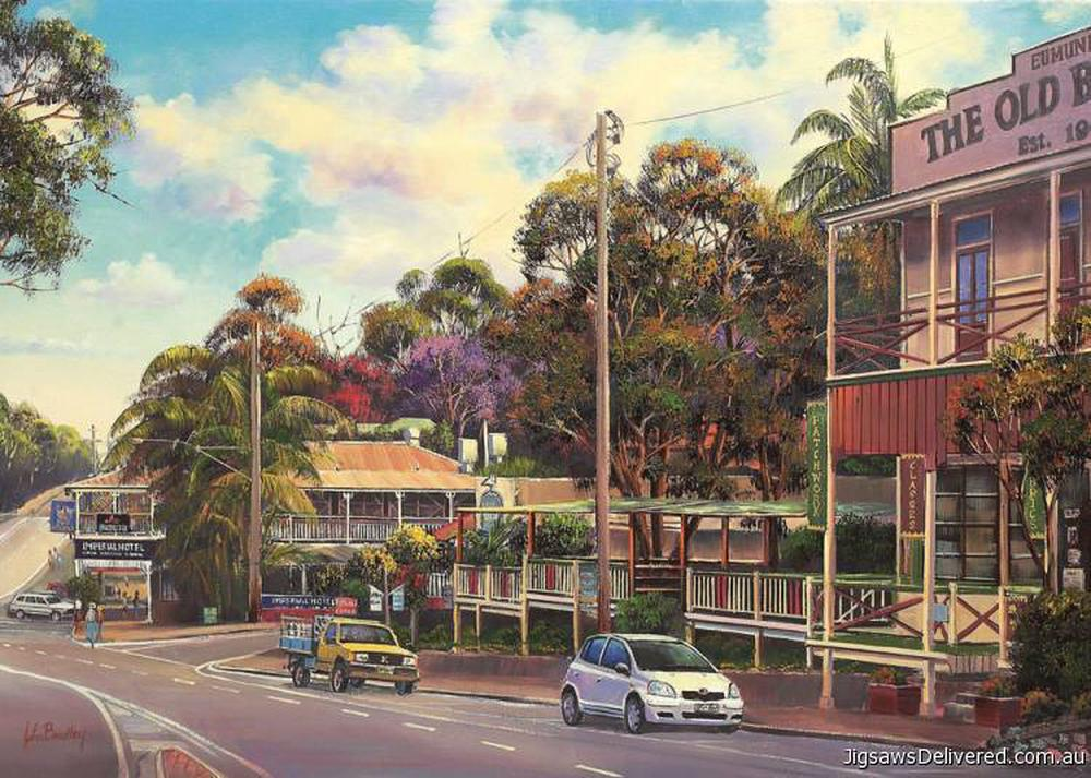 Eumundi On Sunday| Blue Opal 1000 Piece Puzzle| John Bradley| - STEAM Kids Brisbane