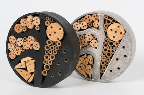Large 30cm Round Insect Hotel - GREY