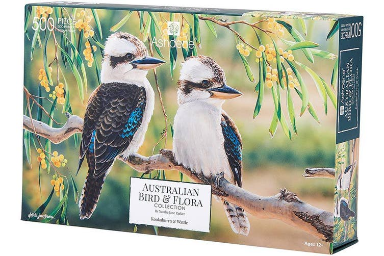 Australian Kookaburra & Wattle 500 Piece Puzzle  | Ashdene Eco Puzzle - STEAM Kids Brisbane