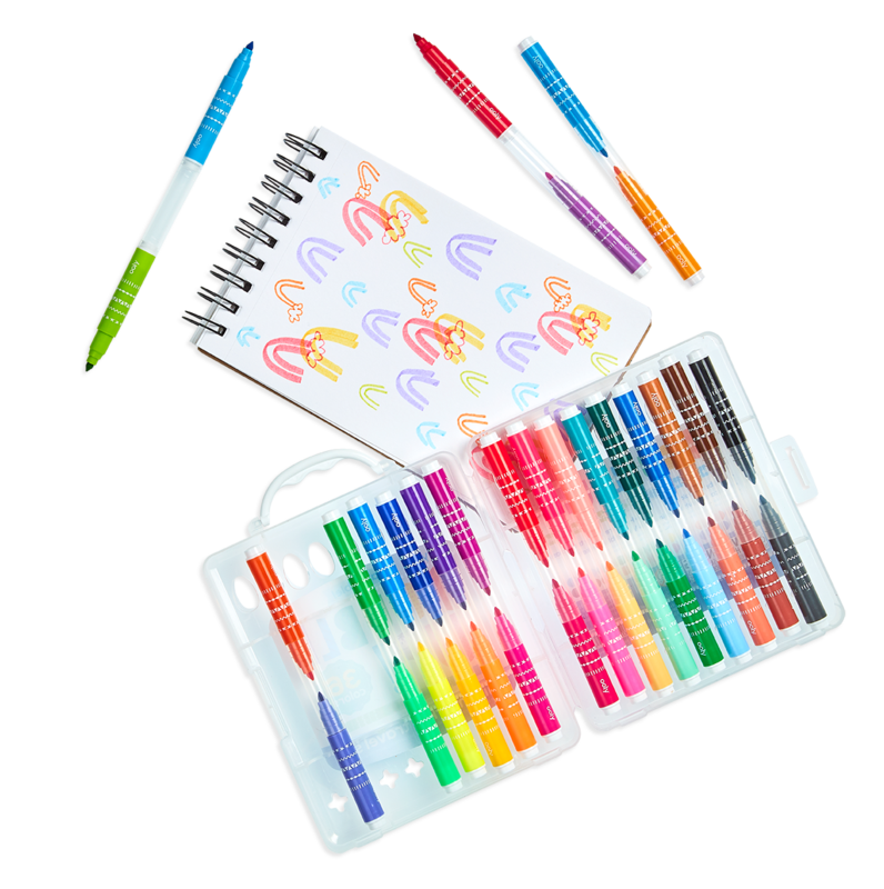 ooly Double Up! Mini Marker 36 Travel Set - STEAM Kids Brisbane