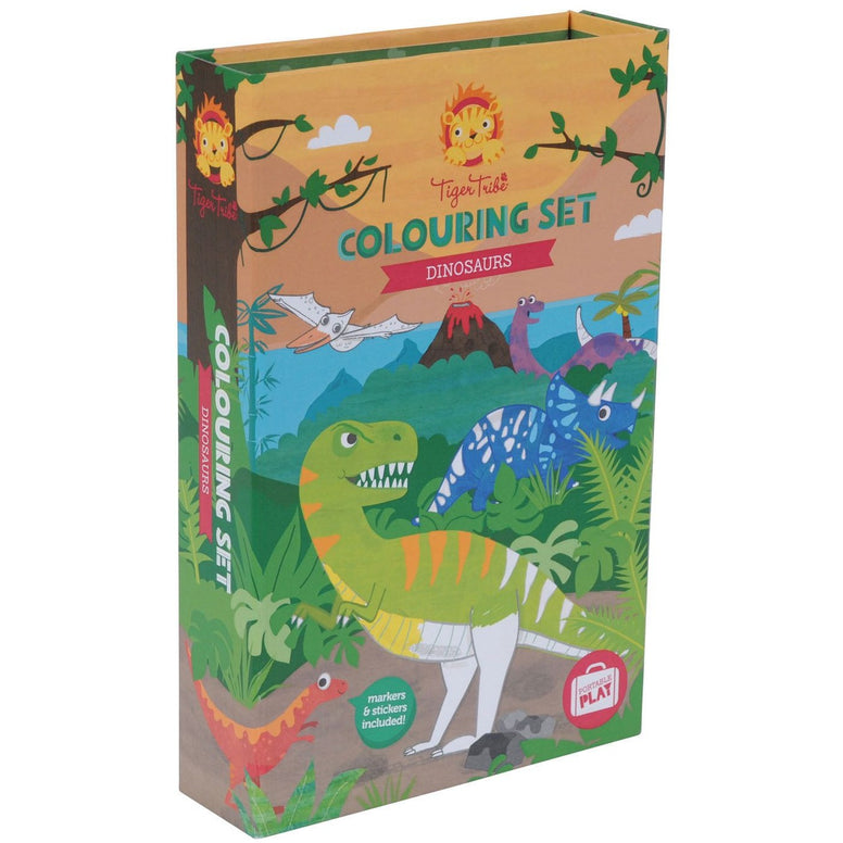 Tiger Tribe Dinosaur Colouring Set - STEAM Kids Brisbane