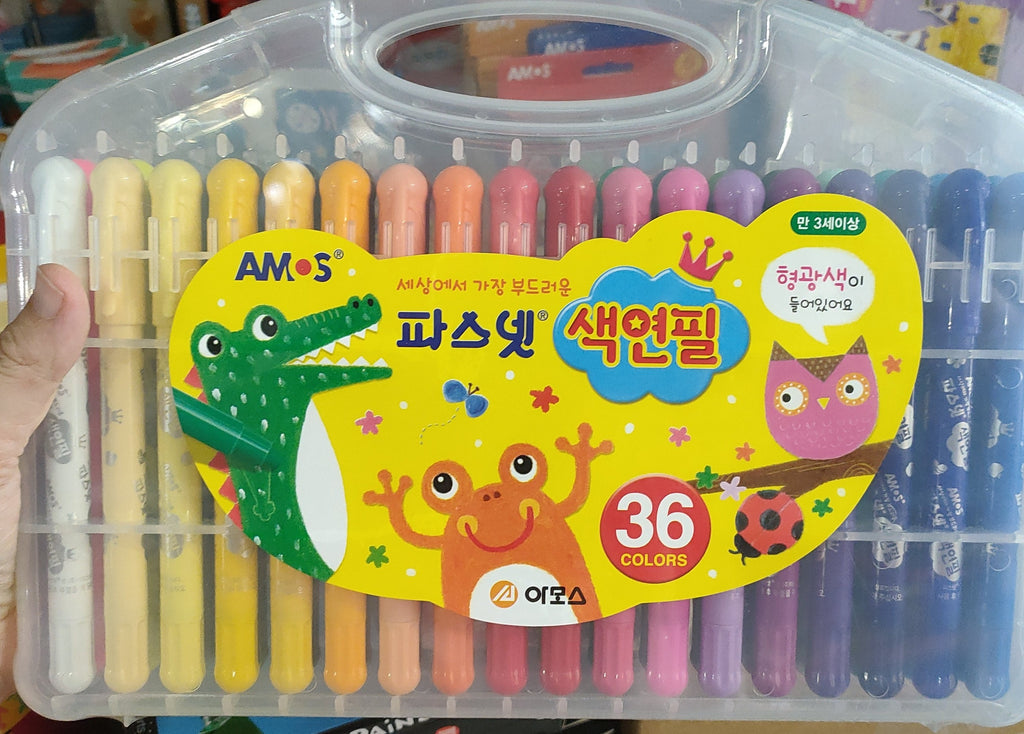AMOS Silky Twisters Crayons Watercolour 36 pack  - STEAM Kids