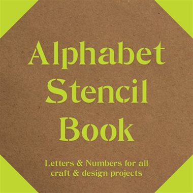 Alphabet Stencil Book Letters & Numbers for all Craft and Design Projects - STEAM Kids Brisbane
