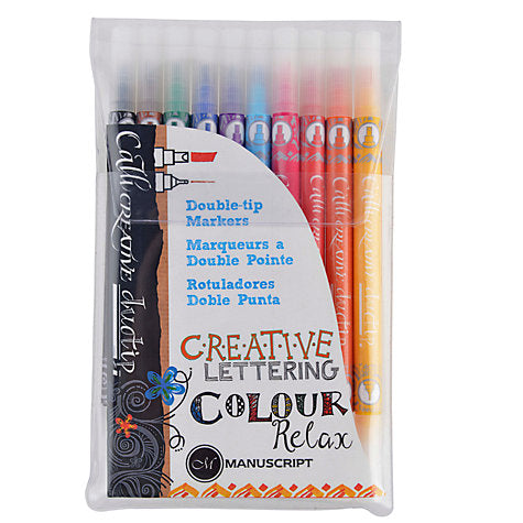 Manuscript CaliCreative Duotip Markers - Flying Fox Shop Brisbane
