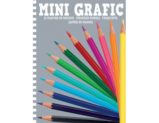 Djeco Mini Grafic Coloured Pencils Pack of 12 - STEAM Kids Brisbane