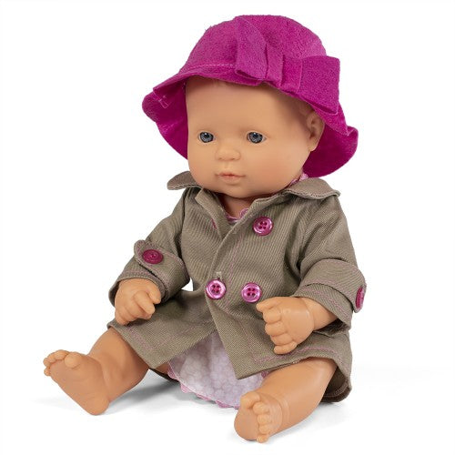 Miniland Doll - Anatomically Correct doll 32cm, Caucasian Girl with Outfit in Box - STEAM Kids Brisbane