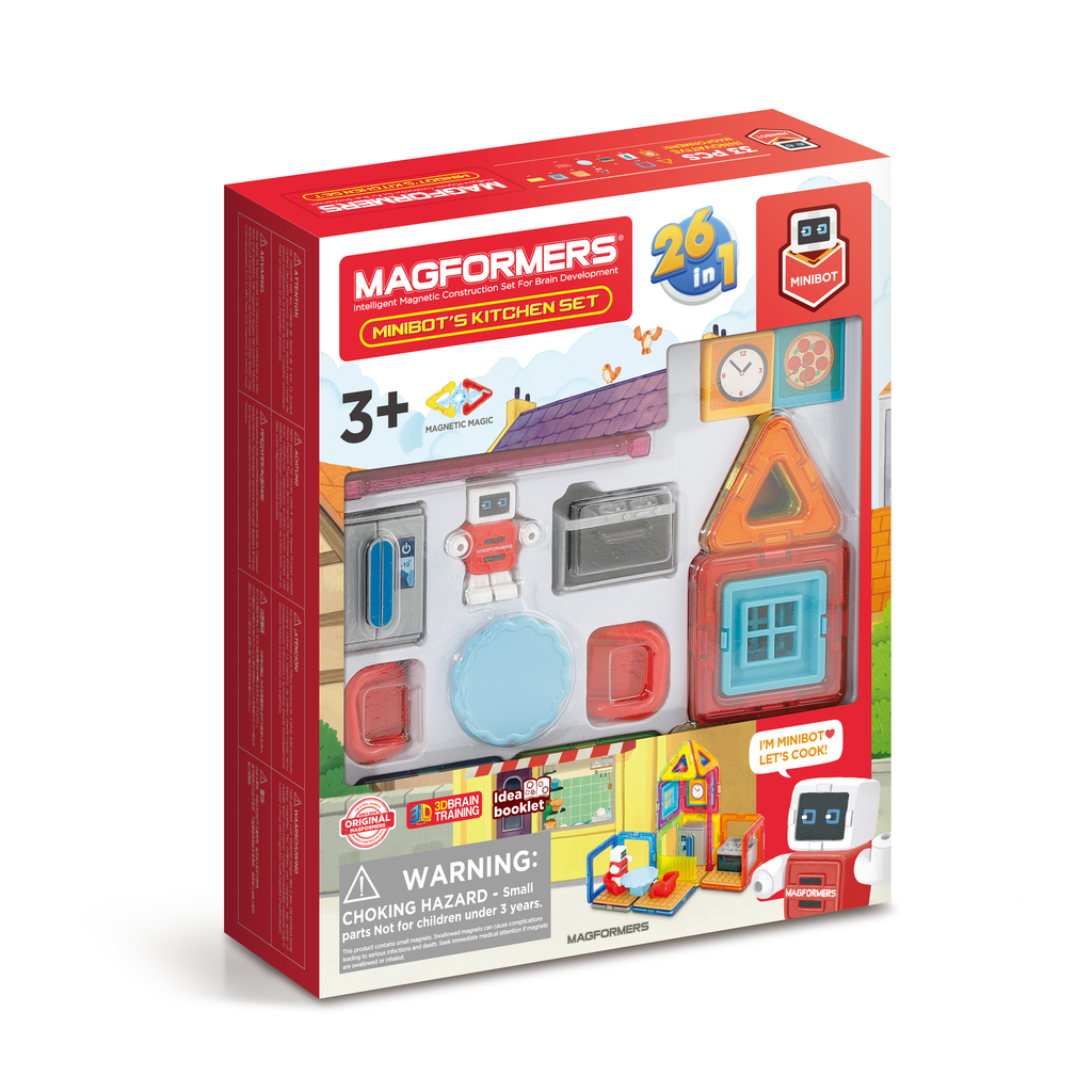 Magformers Minibot's Kitchen 33 piece - STEAM Kids Brisbane