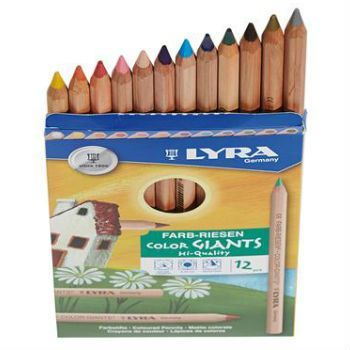 Lyra Color Giants Unlacquered Coloured Pencils (with Gold & SIlver) - STEAM Kids Brisbane