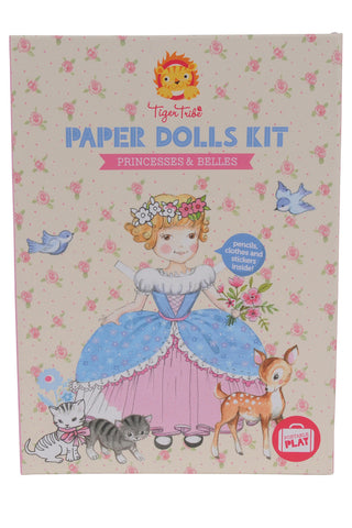 Tiger Tribe Paper Dolls Kit Princesses & Belles - Flying Fox Shop Brisbane