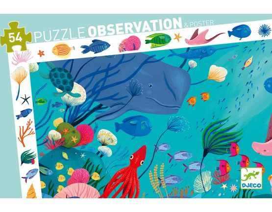 Djeco Aquatic 54 Piece Observation Puzzle - STEAM Kids Brisbane