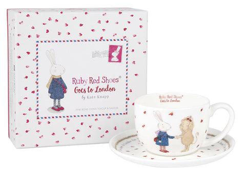 Ruby Red Shoes London Teacup and Saucer - STEAM Kids Brisbane