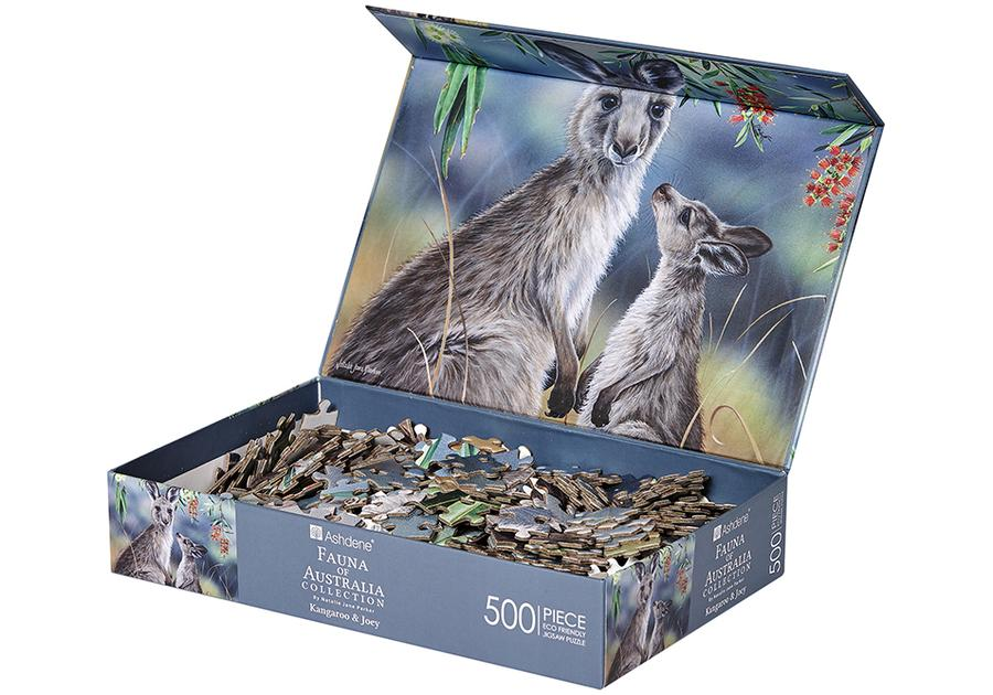 Fauna of Aus Kangaroo & Joey 500 Piece Puzzle - STEAM Kids Brisbane