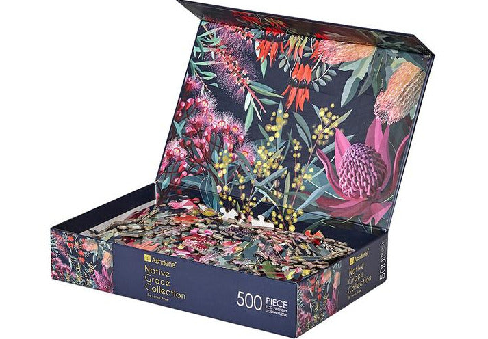 Native Grace 500 Piece Puzzle | Ashdene Eco Puzzle - STEAM Kids Brisbane