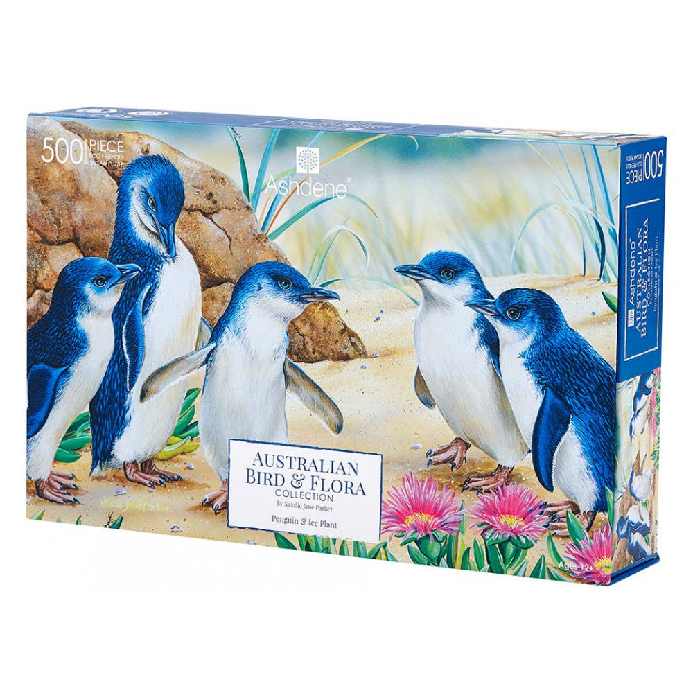 Australian Penguin  & Ice Plant 500 Piece Puzzle  | Ashdene Eco Puzzle - STEAM Kids Brisbane