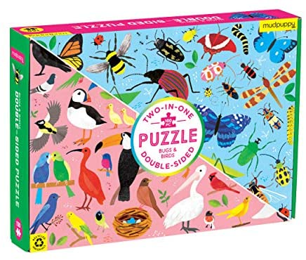 Mudpuppy Double Sided 100 piece Puzzle Bugs and Birds - STEAM Kids Brisbane