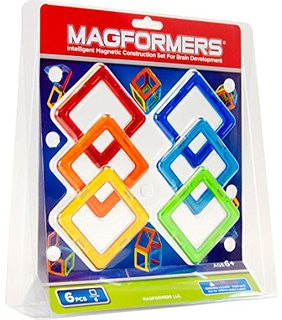 Magformers 6 Squares Basic Set - STEAM Kids Brisbane