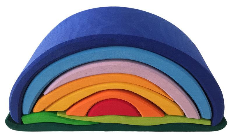 Gluckskafer Sunrise Rainbow Arch - 10 pieces blue - STEAM Kids Brisbane