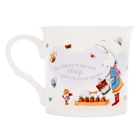 Ruby Red Shoes Crickets Fine Bone China Mug