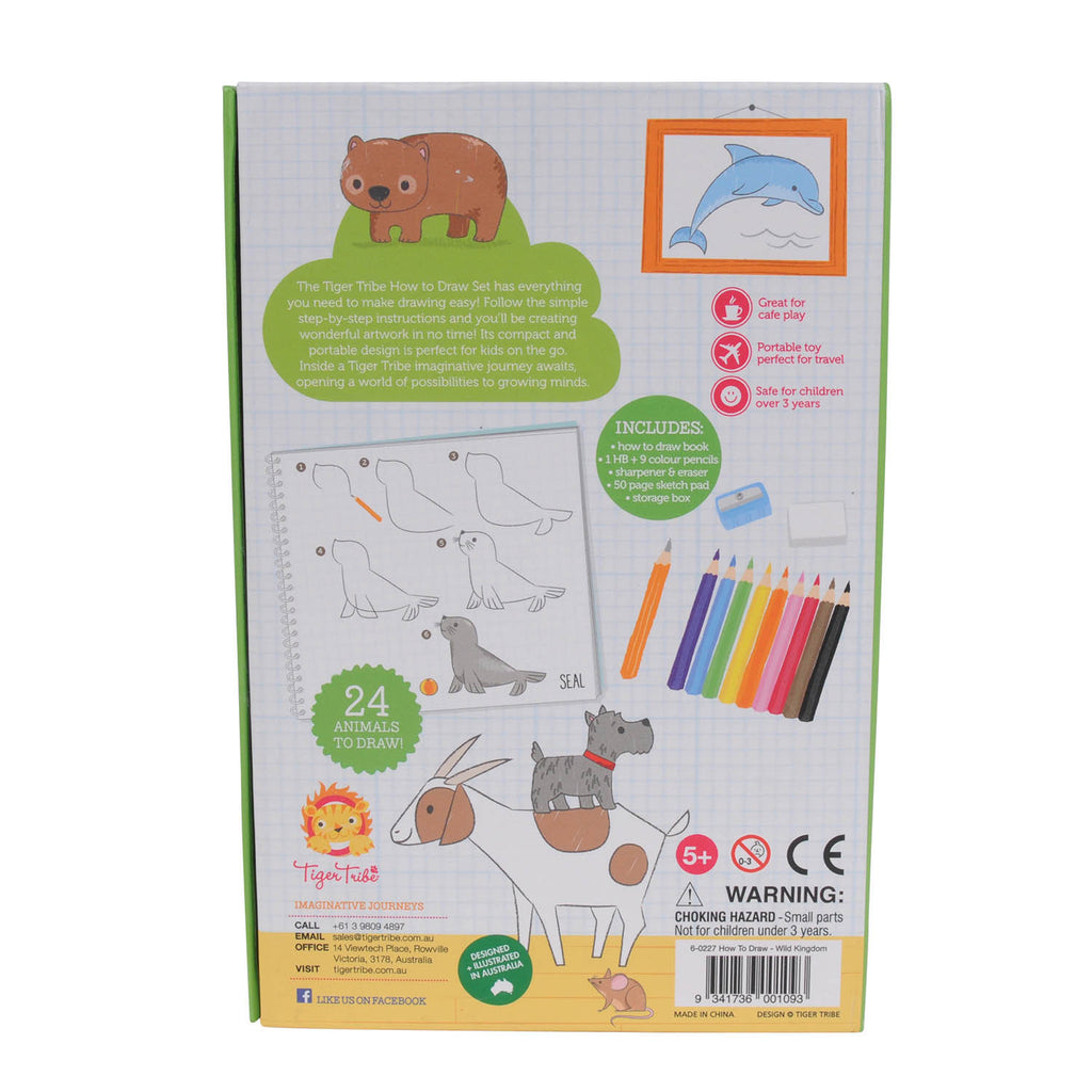 Tiger Tribe How to Draw Wild Kingdom Kit - STEAM Kids Brisbane
