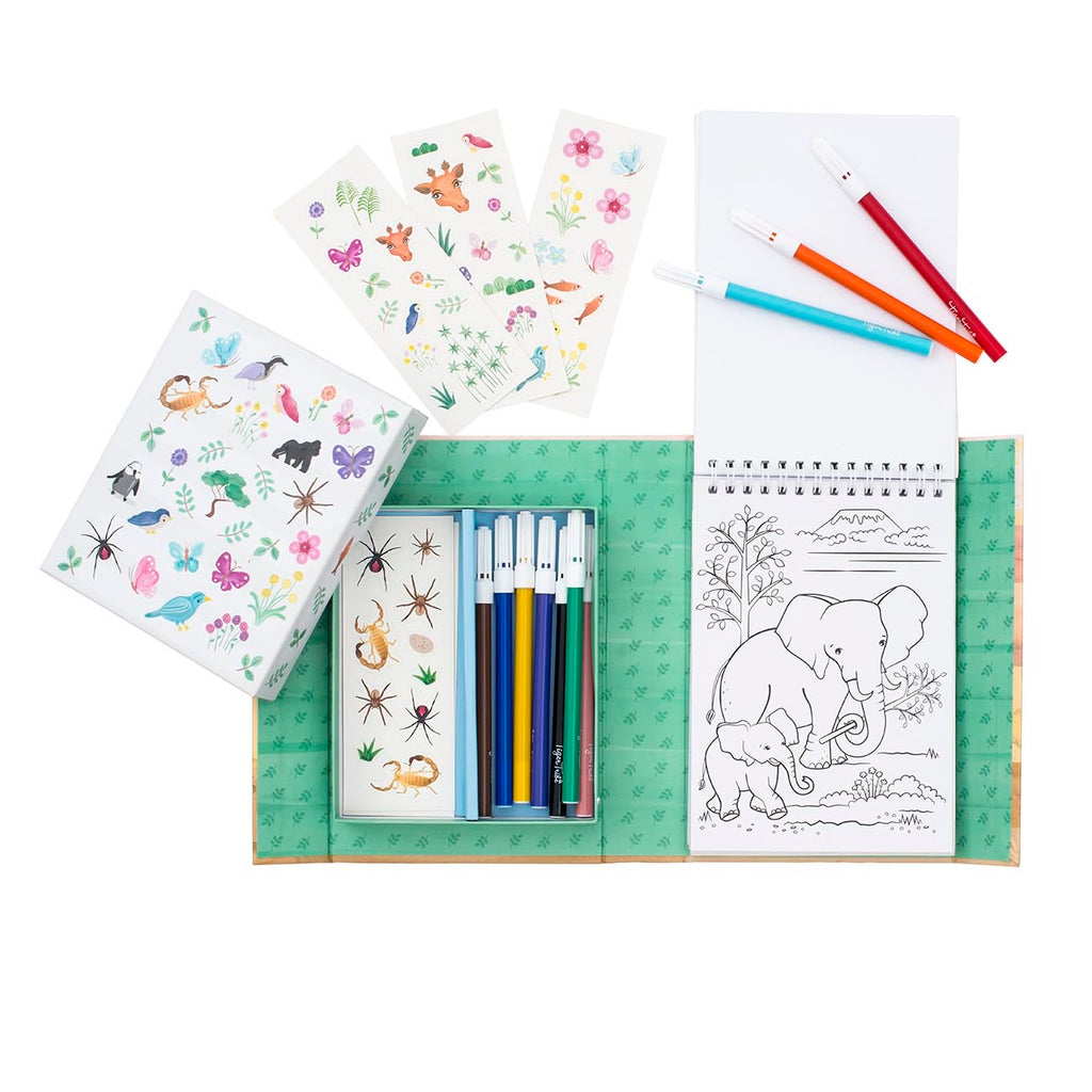 Tiger Tribe Colouring Set - Animal All-Stars - STEAM Kids