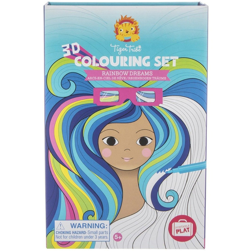Tiger Tribe 3d Colouring Set Rainbow Dreams - STEAM Kids Brisbane
