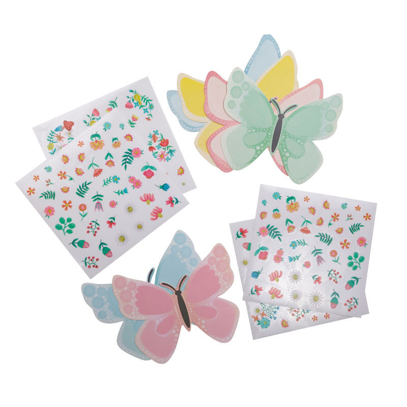 Tiger Tribe Sticker Pics - Butterflies - STEAM Kids