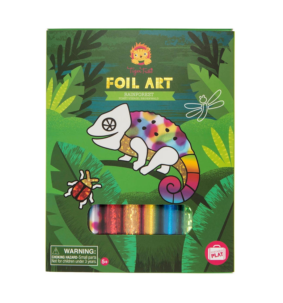 Tiger Tribe Foil Art: Rainforest - STEAM Kids Brisbane