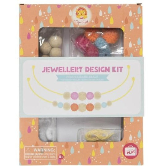 Tiger Tribe Jewellery Design Kit - Pom Poms and Beads - STEAM Kids Brisbane