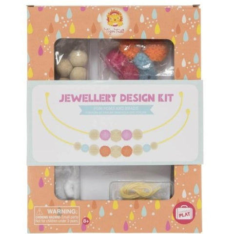 Tiger Tribe Jewellery Design Kit - Pom Poms and Beads