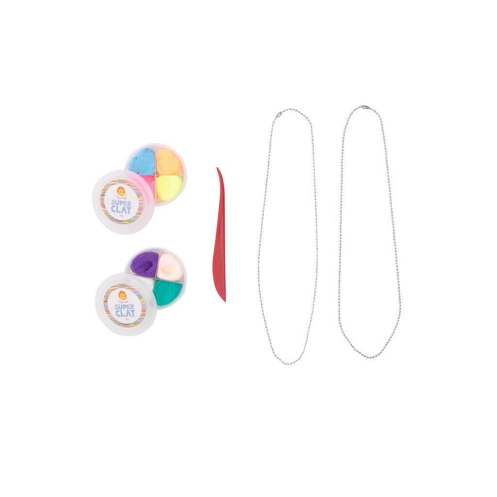 Tiger Tribe Jewellrey Design Kit Super Clay Necklaces - STEAM Kids
