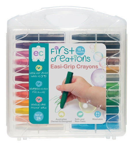 EC First Creations Easi Grip Crayons Case of 24 - STEAM Kids Brisbane