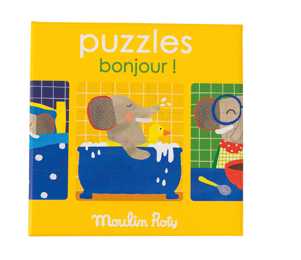 Moulin Roty - Les Popipop Elephant Puzzle - STEAM Kids Brisbane