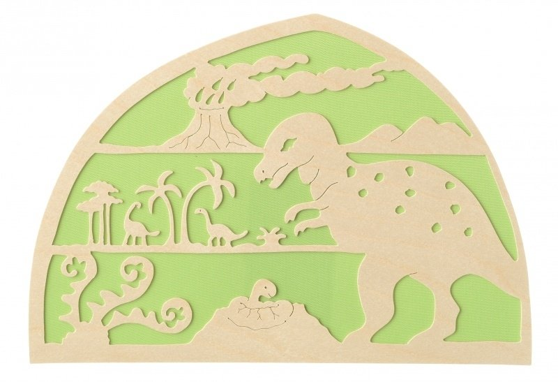 De Noest Silhouette Plate: Dinosaur Green - STEAM Kids Brisbane