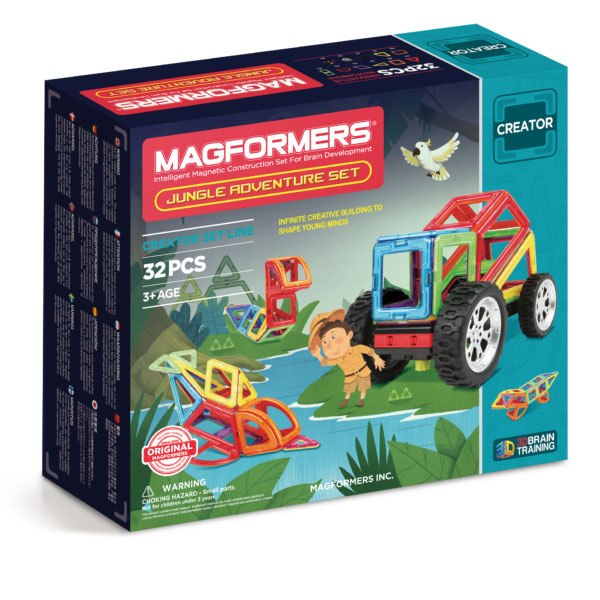 Magformers Jungle Adventure Set 32 - Flying Fox Shop Brisbane
